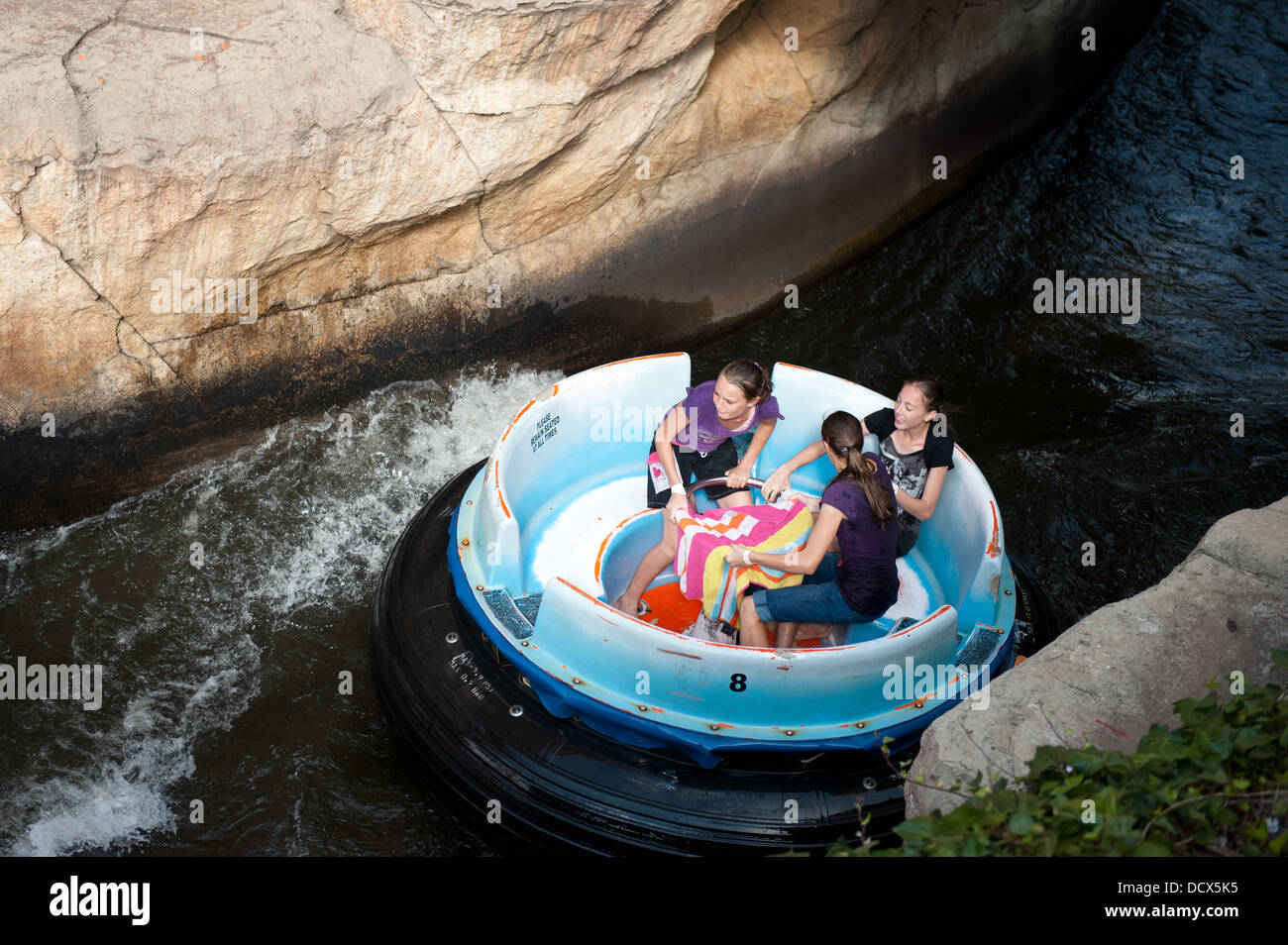 Raging River Rapids fun ride, Gold Reef City, Johannesburg, South Africa - Stock Image