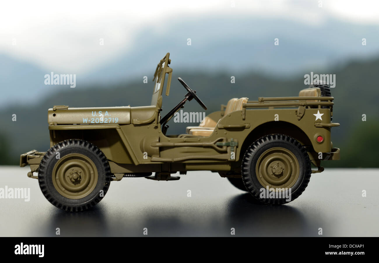 miniature jeep - Stock Image