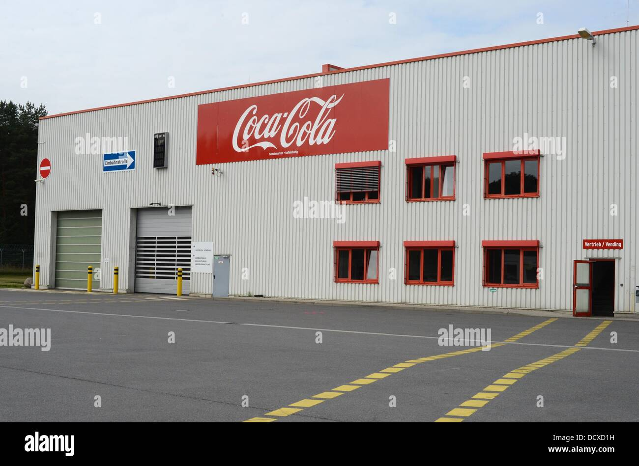 The logo of Coca-Cola is pictured on a building of the Coca-Cola ...