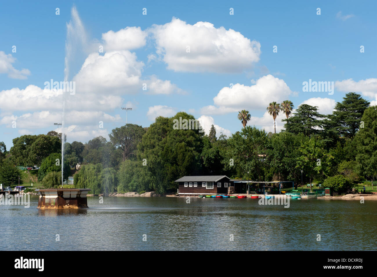 Zoo lake, Johannesburg, South Africa - Stock Image
