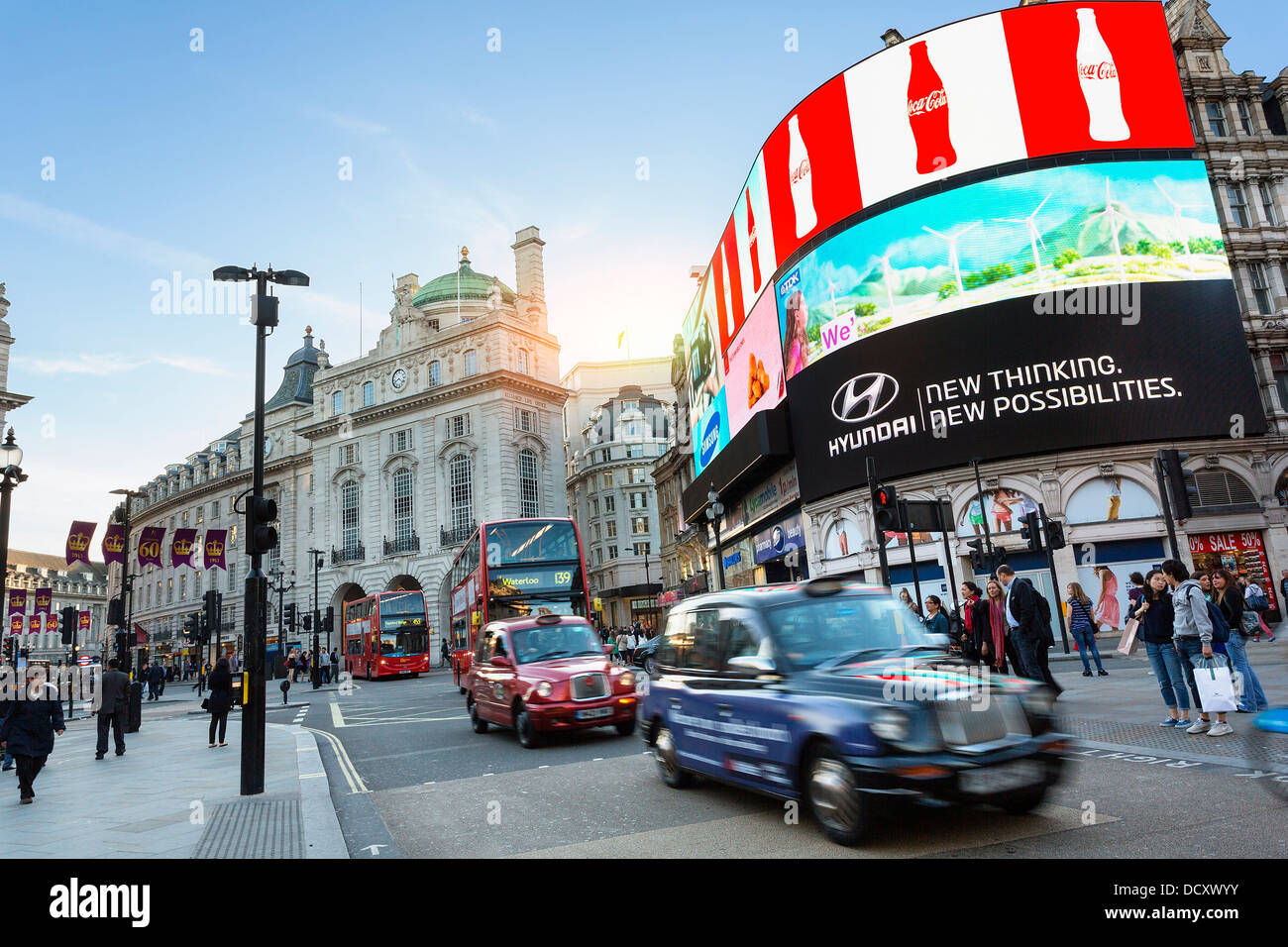 London, Piccadilly Circus - Stock Image