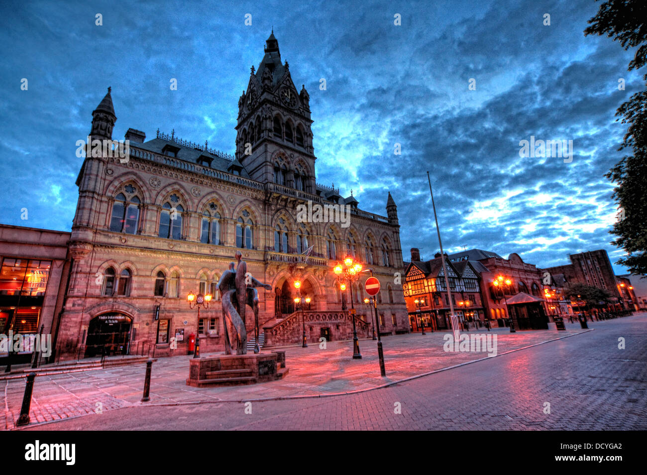 NW,North,West,classic,history,historic,Cheshire,West,and,CWAC,east,tourist,tourism,council,local,authority,gem,gems,shot,nightshot,Chester,City,Night,at,Dusk,England,UK,Deva,Roman,interesting,street,cobbled,lighting,light,imposing,@hotpixuk,hotpixuk,Buy Pictures of,Buy Images Of,Gotonysmith Chester is a city in Cheshire,England. Lying on the River Dee,close to the border with Wales,it is home to 120,622 inhabitants,and,is,the,largest,and,most,populous,settlement,of,the,wider,unitary,authority,area,of,Cheshire,West,and,Chester,which had a population of 328,100,according,to,the,2001,Census.,Chester,was,granted,city,status,in,1541.,Chester,was,founded,as,a,or,Roman,fort,with,the,name,Deva,Victrix,in,the,year,79,by,the,Roman,Legio,II,Adiutrix,during,the,reign,of,the,Emperor,Vespasian.,Chesters,four,main,roads,Eastgate,Northgate,Watergate and Bridge,follow routes laid out at this time – almost 2,000 years ago. One of the,castrum,City Centre,Chester City Centre