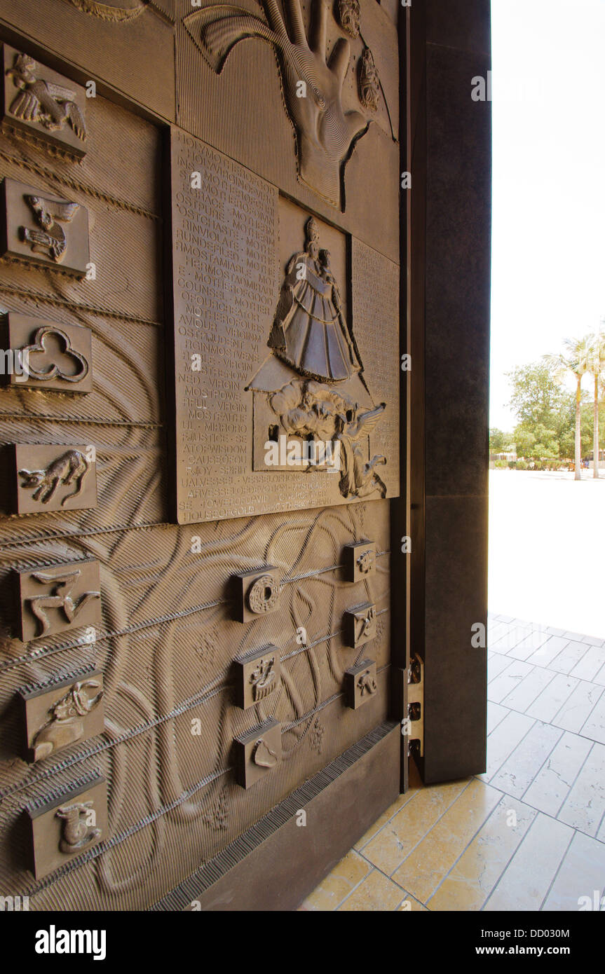 View Of Great Bronze Doors Sculpted By Robert Graham At The Our Lady Of The  Angels Cathedral