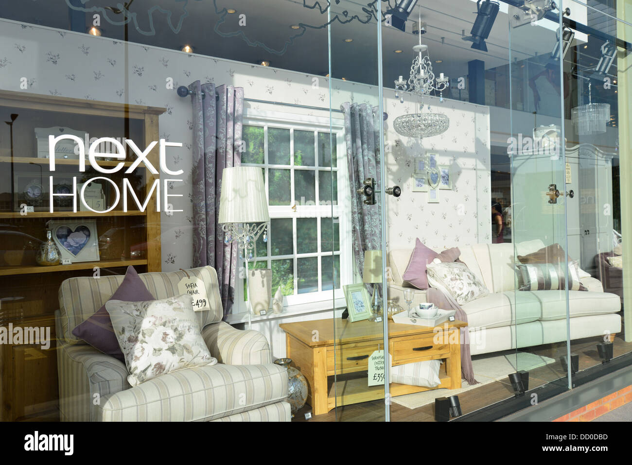 shop window at next home and garden store london road camberley