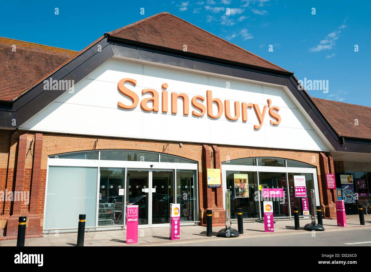 Sainsbury's supermarket at Bridgwater, UK. Stock Photo