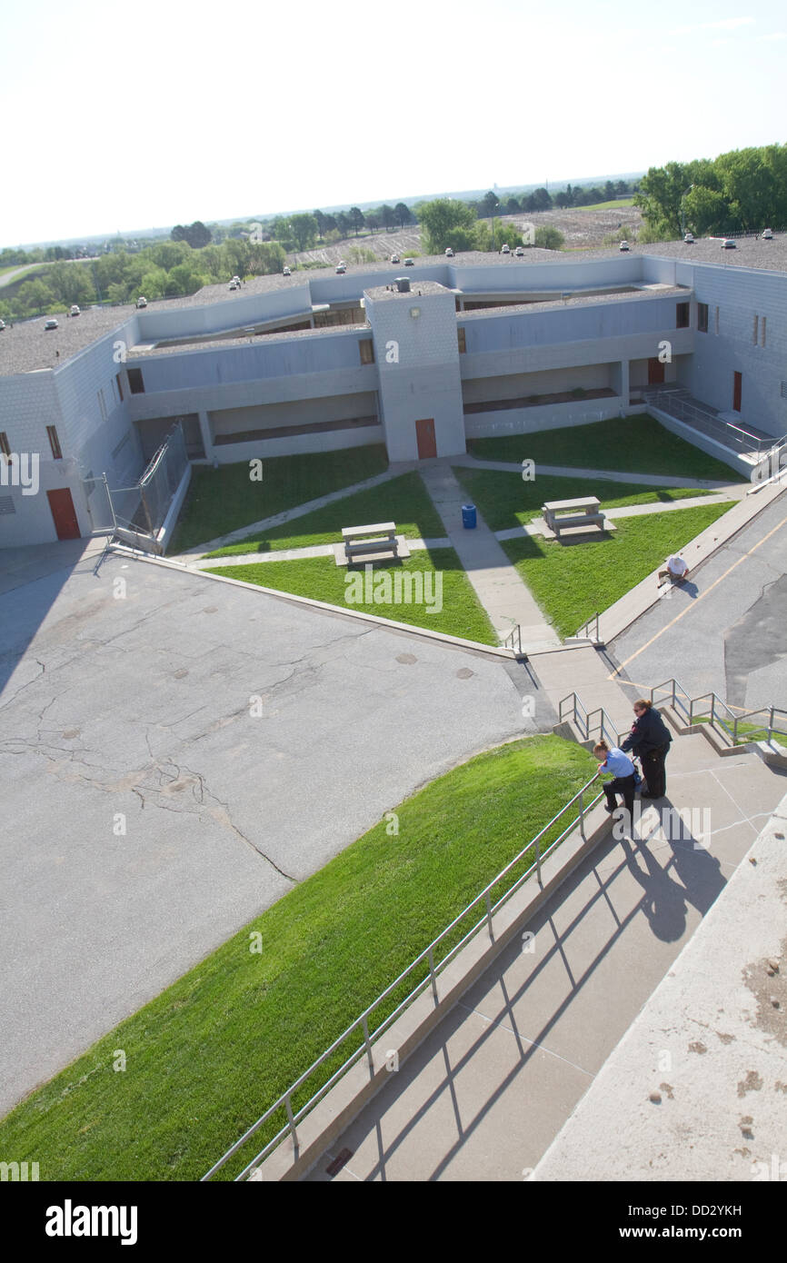 Aerial view of the Lincoln Correctional Center, in Lincoln, Nebraska, USA - Stock Image