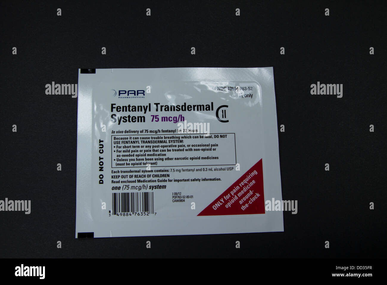 Fentanyl patches. Prescription pain killers that are often abused by addicts. Very potent pain medicine. - Stock Image