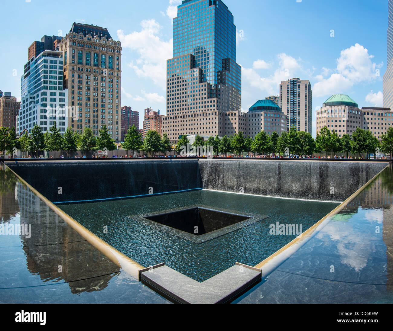 September 11th Memorial in New York City. - Stock Image