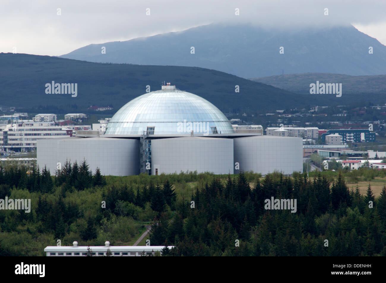 The Perlan Building housing the Saga Museum in Reykjavik, Iceland - Stock Image