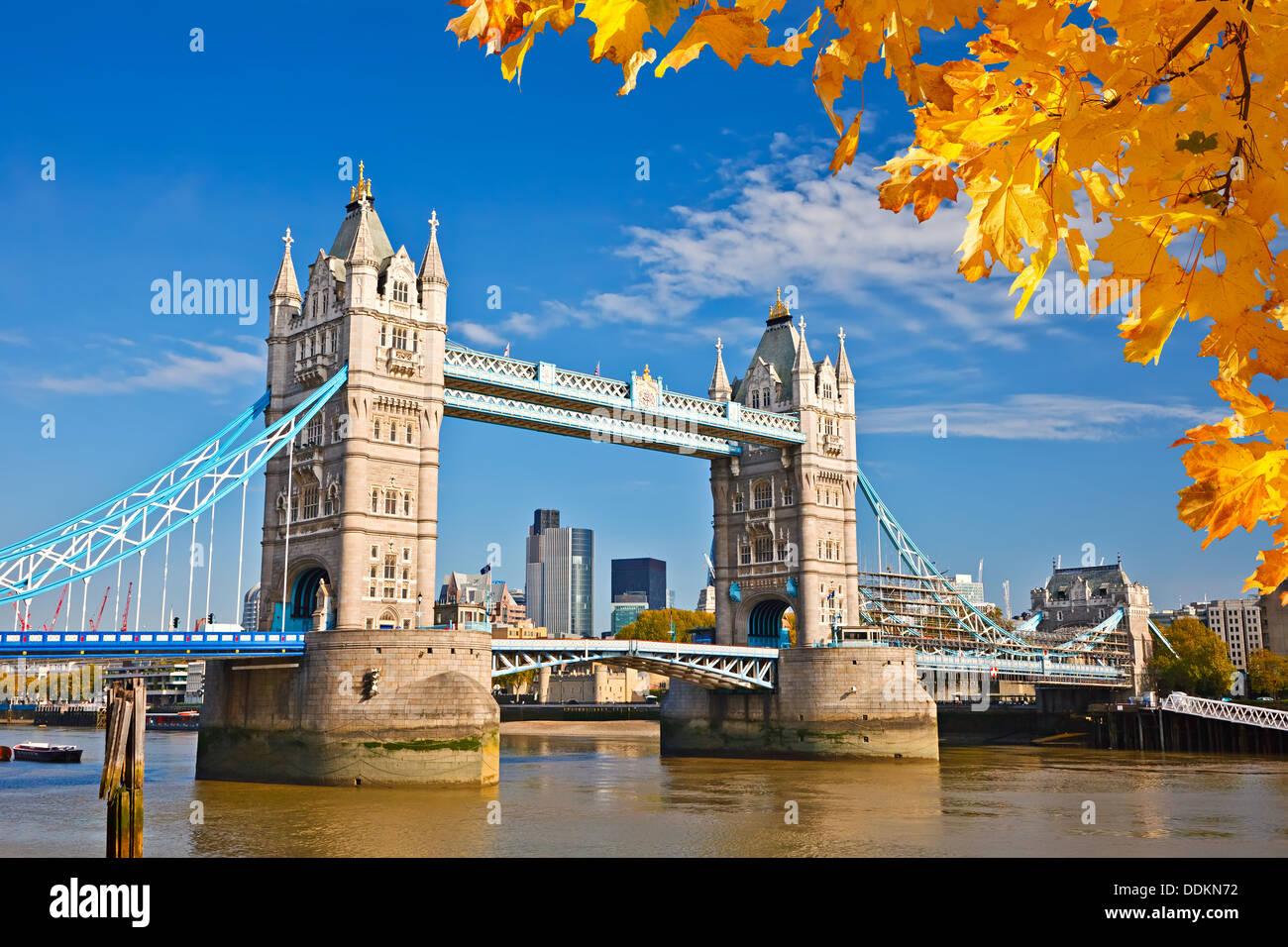 Tower bridge in London - Stock Image