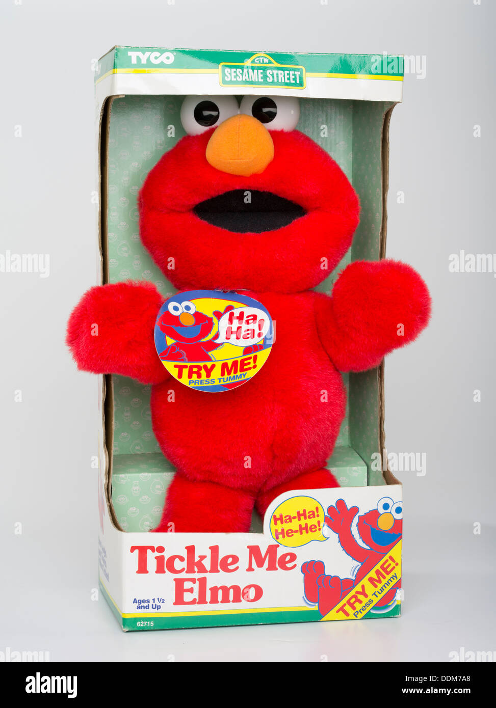 Tickle Me Elmo 1996 by Tyco Toys. Character Muppet from Sesame Street. Iconic Christmas Gift that lead to Elmo-mania Stock Photo