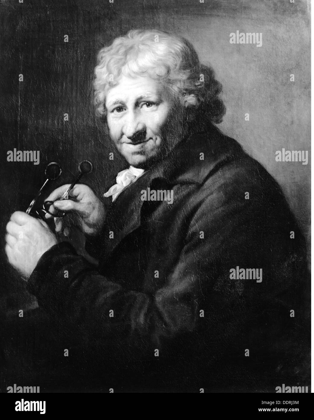 fine arts Graff Anton (1736 - 1813) painting ' Daniel Chodowiecki' German baroque gallery Augsburg 18th - Stock Image