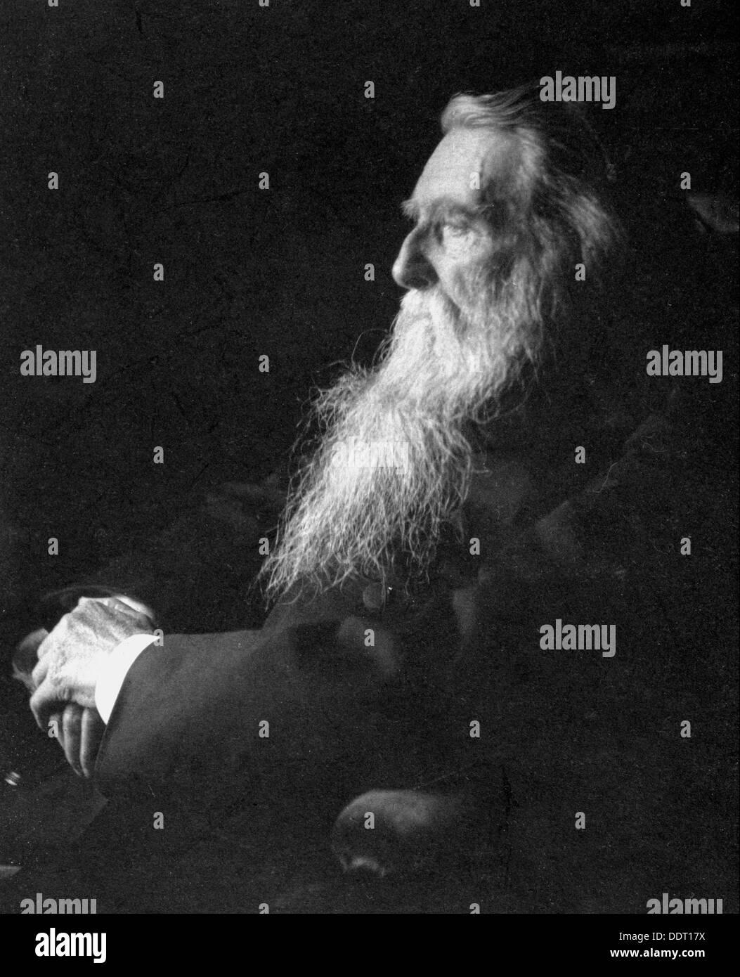 John Ruskin, English artist, poet and critic, c1897. Artist: Emil Otto Hoppe Stock Photo