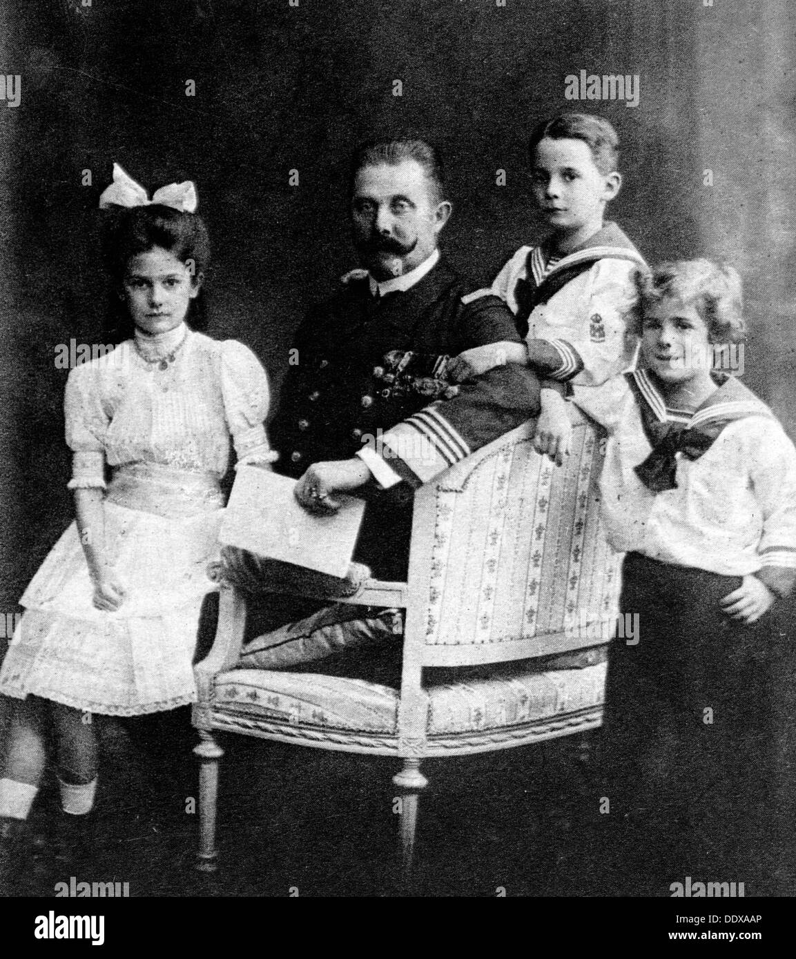 Franz Ferdinand and his children - Stock Image