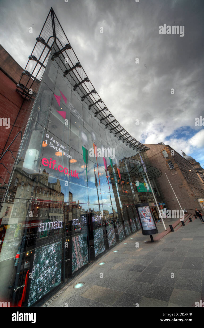 arts,venue,Nicolson,street,performance,performances,opera,ballet,empire,tourist,attraction,glass-fronted,structure,for,the,new,entrance,created,by,architect,Colin,Ross,glass,fronted,building,architecture,dramatic,mix,of,art,nouveau,beaux,arts,and,neo-classicism,neoclassicism,Gotonysmith,The,Edinburgh,Festival,Theatre,is,a,performing,arts,venue,located,on,Nicolson,Street,in,Edinburgh,Scotland used primarily for performances of opera and ballet,large-scale musical events,and touring groups. After its most recent renovation in 1994,it seats 1,915.,It,is,one,of,the,major,venues,of,the,annual,summer,Edinburgh,International,Festival,and,is,the,Edinburgh,venue,for,the,Scottish,Opera,and,the,Scottish,Ballet.,The,present,theatre's,location,is,Edinburgh's,longest,continuous,theatre,site,for,there,has,been,a,theatre,in,that,location,since,1830.,From,being,Dunedin,Hall,the Royal Amphitheatre,Alhambra Music Hall,the Queen's Theatre,Pablo Fanques Amphitheatre,13-29 Nicolson St,Edinburgh EH89FT EH8 9FT 13 29,oldtown,Buy Pictures of,Buy Images Of