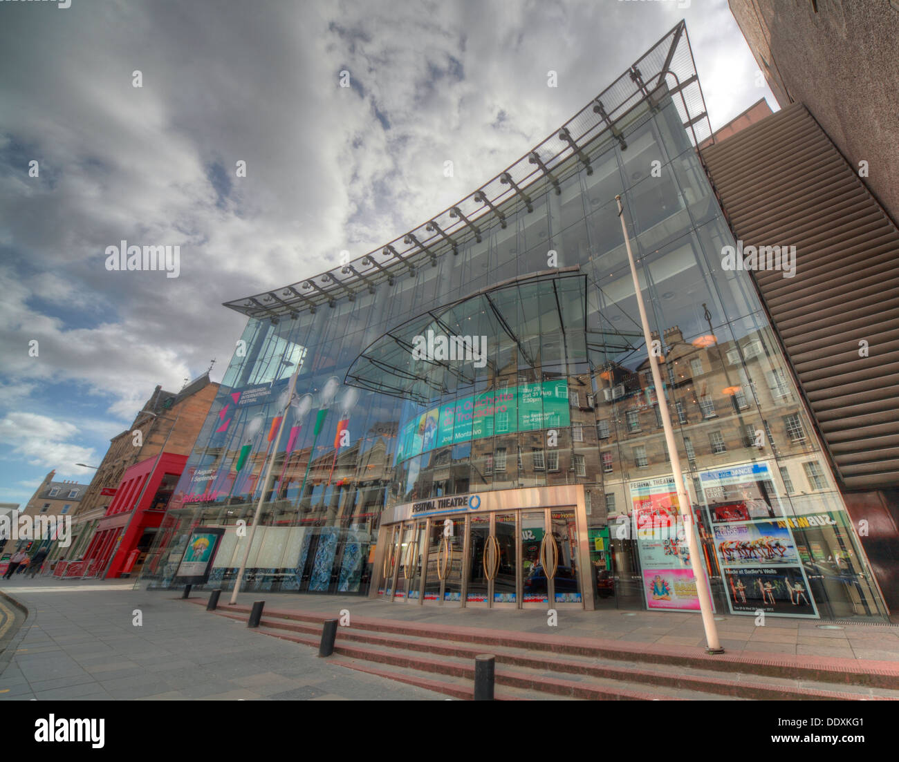arts,venue,Nicolson,street,performance,performances,opera,ballet,empire,tourist,attraction,glass-fronted,structure,for,the,new,entrance,created,by,architect,Colin,Ross,glass,fronted,building,architecture,dramatic,mix,of,art,nouveau,beaux,arts,and,neo-classicism,neoclassicism,Gotonysmith,The,Edinburgh,Festival,Theatre,is,a,performing,arts,venue,located,on,Nicolson,Street,in,Edinburgh,Scotland used primarily for performances of opera and ballet,large-scale musical events,and touring groups. After its most recent renovation in 1994,it seats 1,915.,It,is,one,of,the,major,venues,of,the,annual,summer,Edinburgh,International,Festival,and,is,the,Edinburgh,venue,for,the,Scottish,Opera,and,the,Scottish,Ballet.,The,present,theatre's,location,is,Edinburgh's,longest,continuous,theatre,site,for,there,has,been,a,theatre,in,that,location,since,1830.,From,being,Dunedin,Hall,the Royal Amphitheatre,Alhambra Music Hall,the Queen's Theatre,Pablo Fanques Amphitheatre,13-29 Nicolson St,Edinburgh EH89FT EH8 9FT 13 29,oldtown,attraction,attractions,Buy Pictures of,Buy Images Of