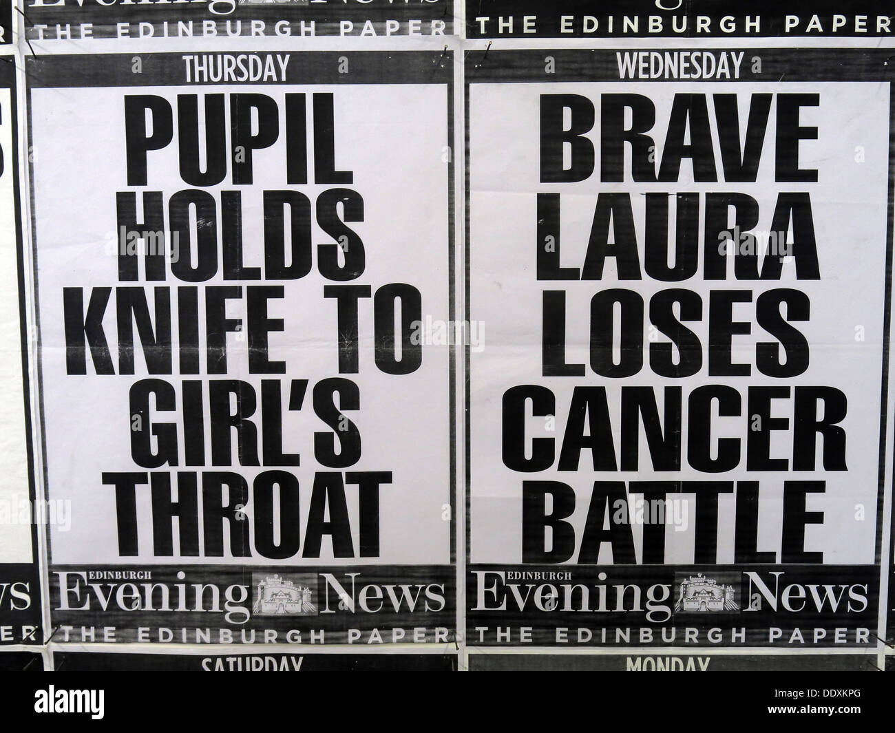 newspaper,headlines,tabloid,paper,press,media,evening,news,#edinburghartfestival,#eaf,#kennywatson,art,installation,exhibition,Scotland,UK,Edinburgh Festival,newspaper headlines,Edinburgh Evening News,The Days and Fascia,GoTonySmith,@HotpixUK,Buy Pictures of,Buy Images Of,Images of,Stock Images