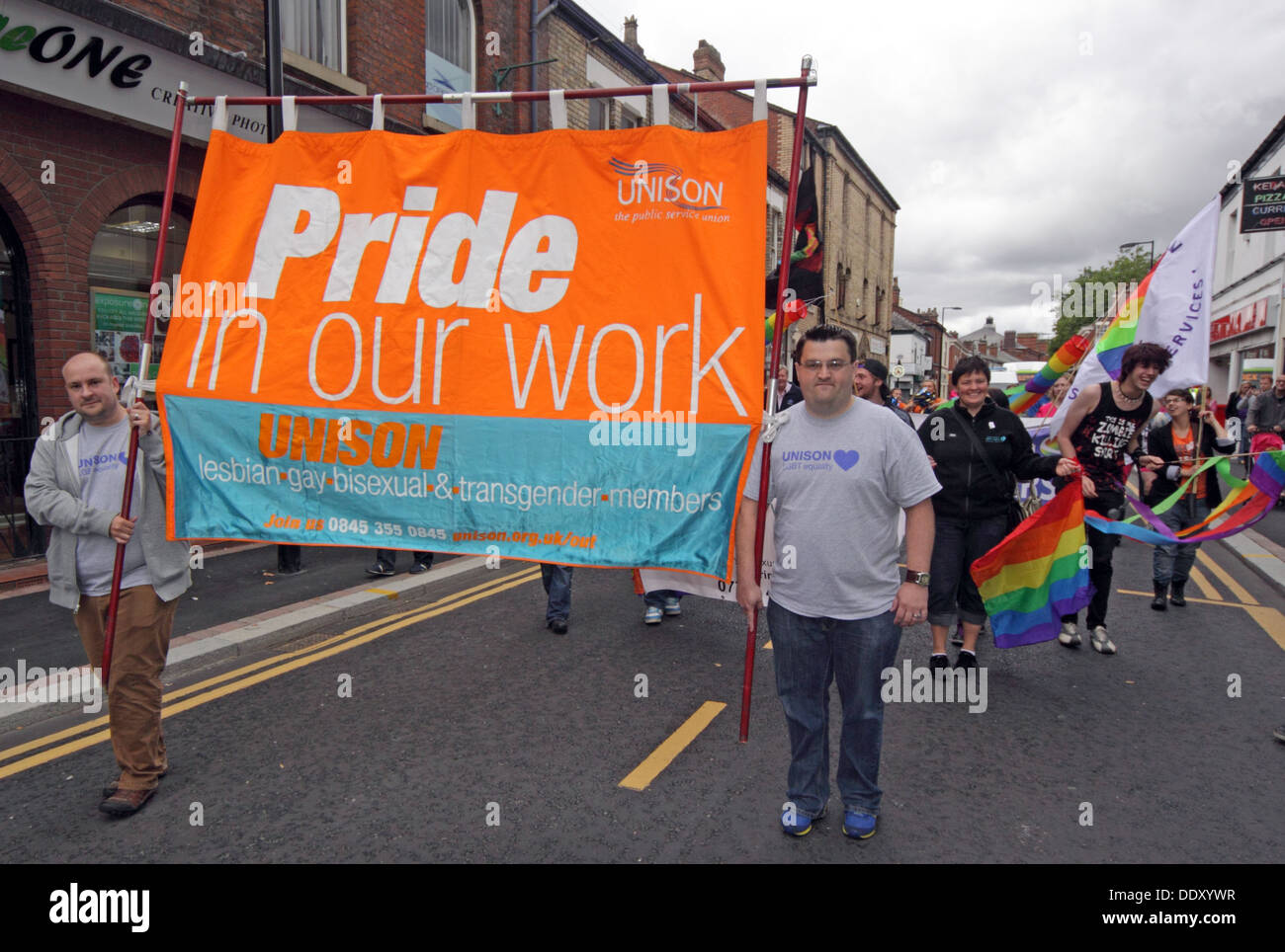 England,WA1,UK,GB,Great,britain,British,gay,lesbian,trans,transgender,LGBT,Bi,Bi-sexual,bisexual,people,men,women,marching,rights,WarringtonPride,march,marches,WBC,borough,council,unitary,local,authority,GGHT,golden,gates,housing,trust,events,celebrating,event,annual,yearly,flag,7th,seventh,gotonysmith,Warington,gayrights,Sep,Sept,Stonewall,town,demonstrate,demonstrators,demonstrator,Liberation,Front,GLF,gayness,gayboy,boy,boys,girls,girl,population,world,worldpride,Canal,St,street,rugby,player,players,team,cup,rugbyworldcup,07/09/2013,09/07/2013,Rylands,Palmyra,Sq,square,Bond,Bridge,WarringtonLGBT,LGBTWarrington,members,volunteers,stigma,services,service,HIV,aids,sexuality,sex,lgbtwarrington.co.uk,WA1,1JL,WA11JL,Unison,banner orange blue teal,Pride in Our Work,Buy Pictures of,Buy Images Of