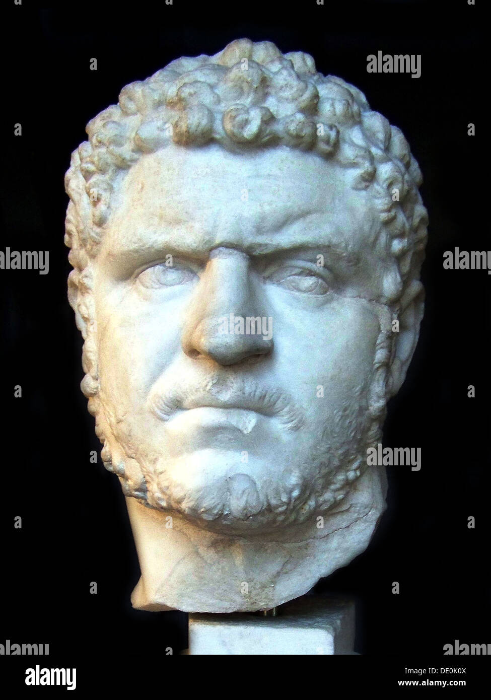 Caracalla, 3rd cen. AD. Artist: Art of Ancient Rome, Classical sculpture - Stock Image