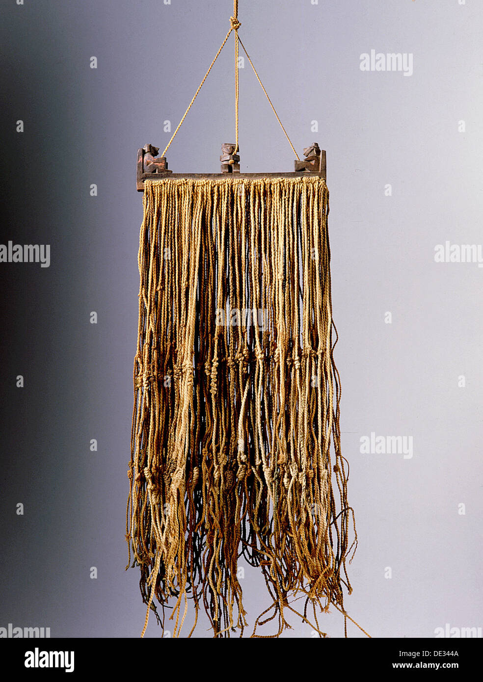 The quipu was a series of knotted strings by which the Inca kept their administrative records, though a more esoteric Stock Photo