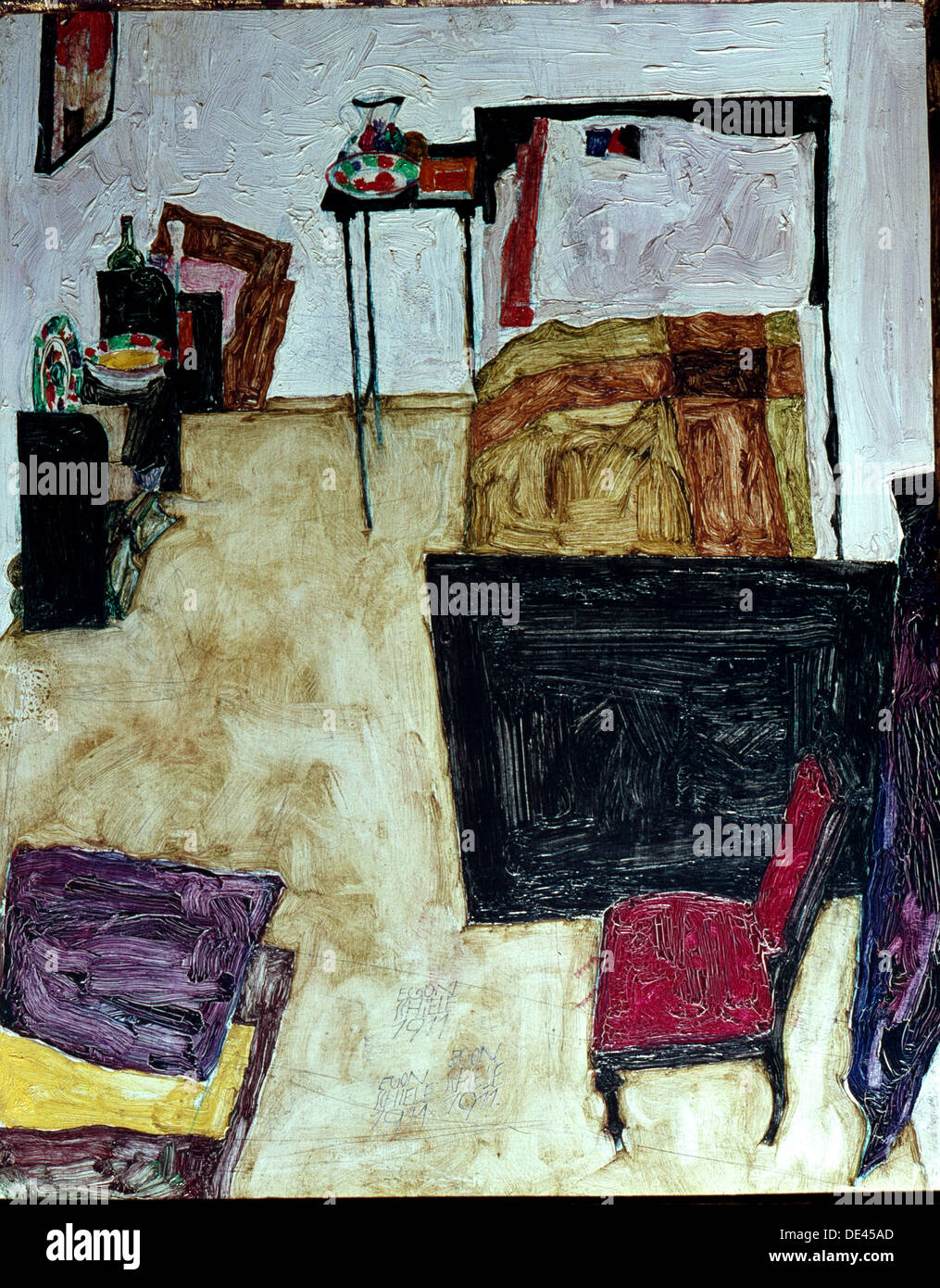 Mein Wohnzimmer Painting By Egon Schiele Stock Photo 60328309 Alamy