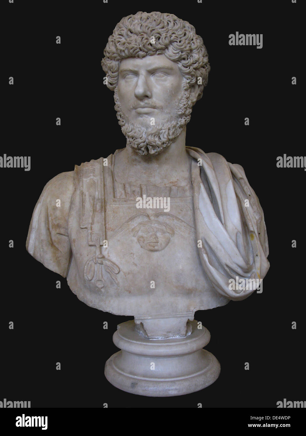 Bust of Lucius Verus, 2nd cen. AD. Artist: Art of Ancient Rome, Classical sculpture - Stock Image