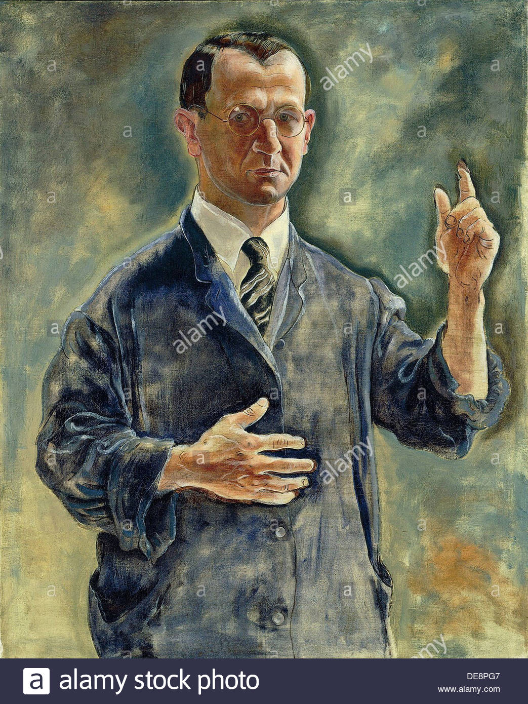Self Portrait as Warner, 1927. Artist: Grosz, George (1893-1959) - Stock Image