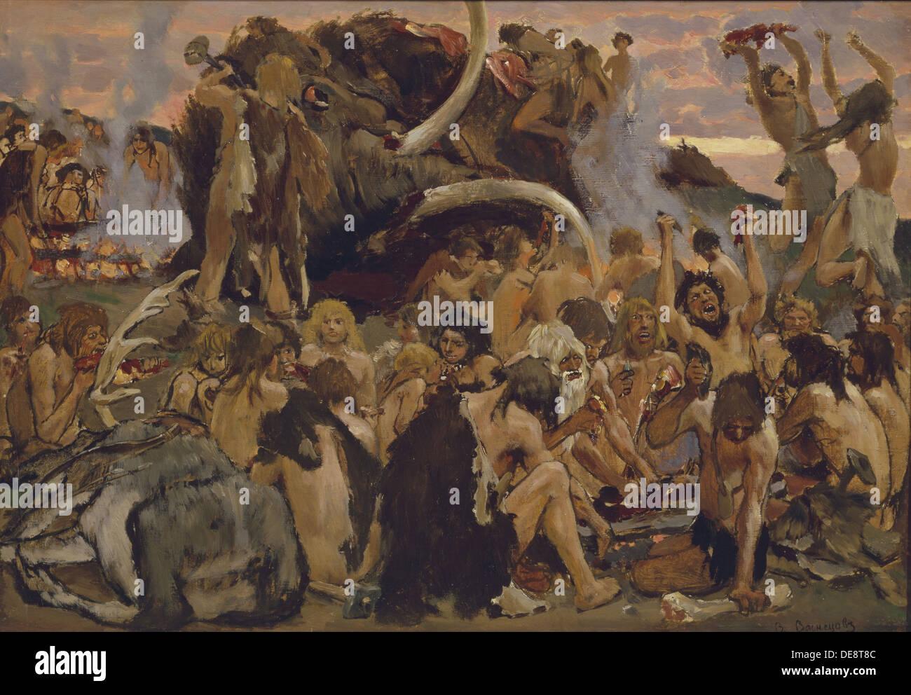 The Stone Age A Feast 1883 Artist Vasnetsov Viktor