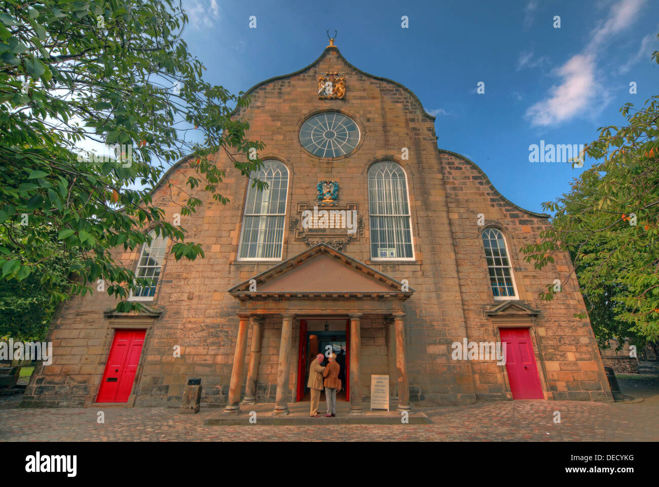 EH8,8BN,EH88BN,interior,inside,outside,historic,tourist,travel,building,architecture,kirkyard,churchyard,yard,Canon,gate,of,old,town,oldtown,parish,castle,cots,Scottish,scotch,burgh,city,Dutch-style,end,gable,worship,services,Sunday,anglican,religion,religion,Christianity,royal,outside,exterior,gotonysmith,Palace,of,Holyroodhouse,Holyrood,capital,Dutch,style,small,doric-columned,portico,over,the,entrance,doric,column,columned,Regiment,of,the,British,Army,chapel,red,door,doors,oldtown,Buy Pictures of,Buy Images Of