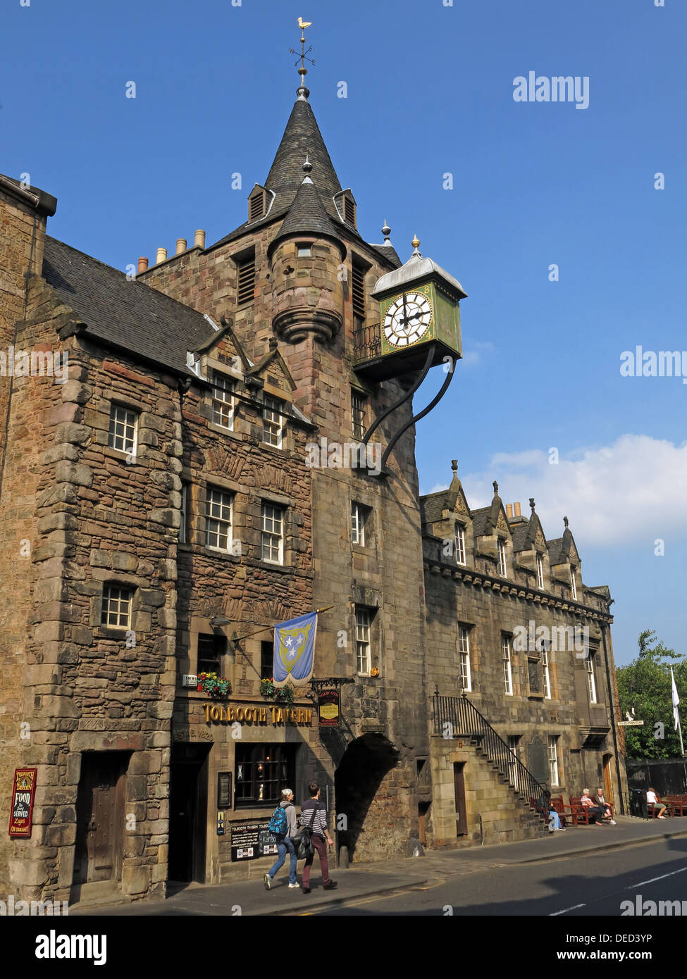 EH1,Scottish,Scot,scots,independance,independence,Tollbooth,Tavern,Clock,Royal,Mile,time,tower,turret,turrit,historic,canongate,cannongate,canon,gate,summer,blue,sky,stone,building,traditional,architecture,entry,entrance,bar,bars,pub,pubs,green,clock,tolbuth,gaol,where,judicial,torture,and,execution,Gotonysmith,Pretorio,burgi,street,summer,blue,sky,took,place,Famous,inmates,held,in,the,old,Thomas,Aikenhead,bus,Archibald,Campbell,1st Marquis of Argyll tour Robert Balfour,5th Lord Balfour of Burleigh Deacon Brodie James Douglas,4th Earl of Morton John Fian James Graham,1st Marquis of Montrose Alexander Home,3rd Lord Home Archibald Johnston,Lord,Warriston,Alexander,Peden,Captain,John,Porteous,Agnes,Sampson,Major,Weir,tourist,haunt,haunts,tourist,tourists,tourism,travel,building,architecture,wide,shot,angle,Buy Pictures of,Buy Images Of,Scotlands History,Scotlands History