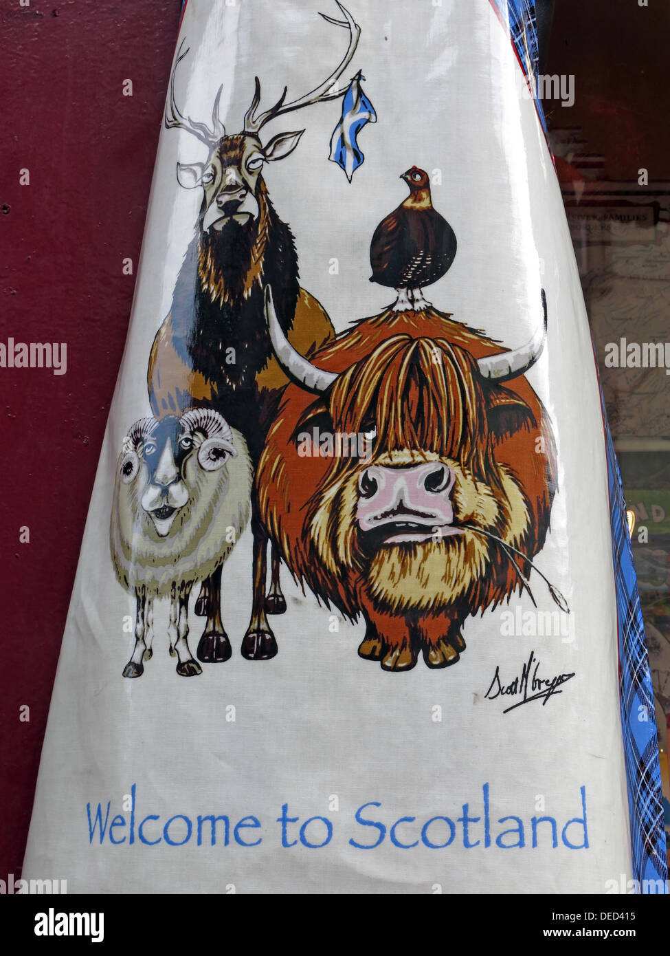 EH1,Scottish,Scot,scots,independance,independence,PVC,Kitchen,Apron,Souvenir,Gift,PVC,Kitchen,Apron,Souvenir,Gift,highland,cow,coo,animals,saltaire,flag,Gotonysmith,Buy Pictures of,Buy Images Of