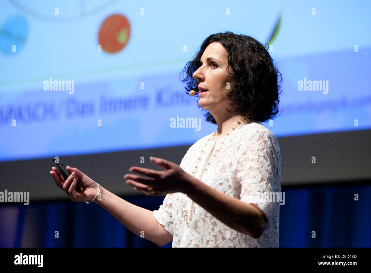 Salzburg, Austria, Ingrid Auer at the Angel Congress - Stock Image