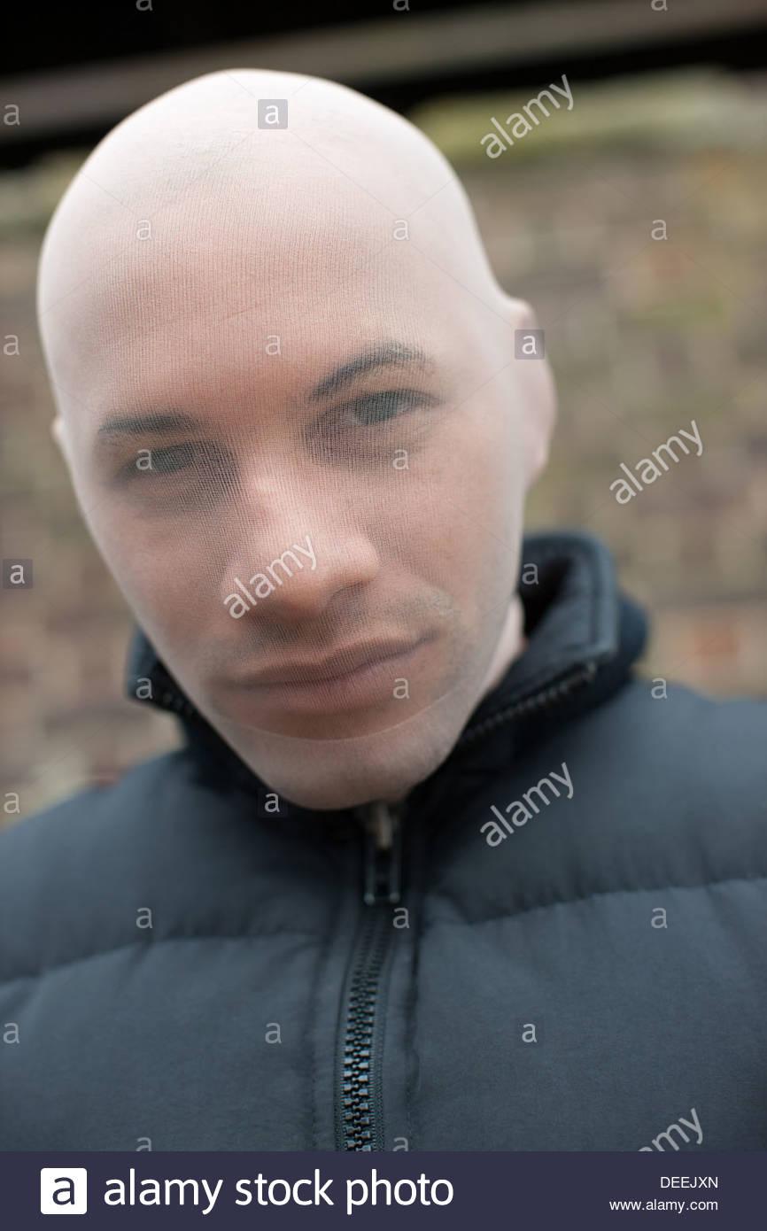 Man in ski mask - Stock Image