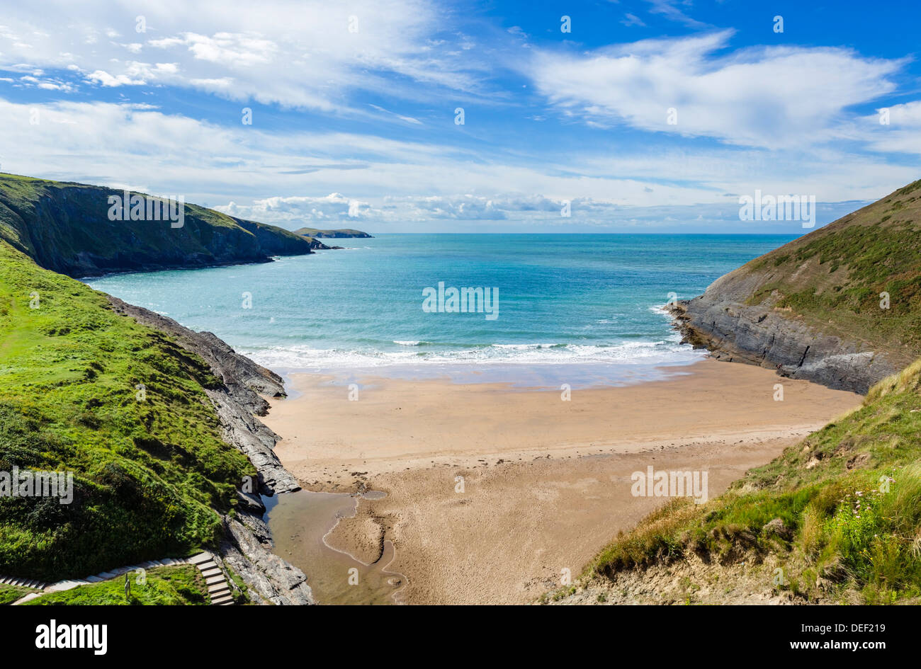 The award winning beach at Mwnt, near Cardigan, Ceredigion, Wales, UK Stock Photo