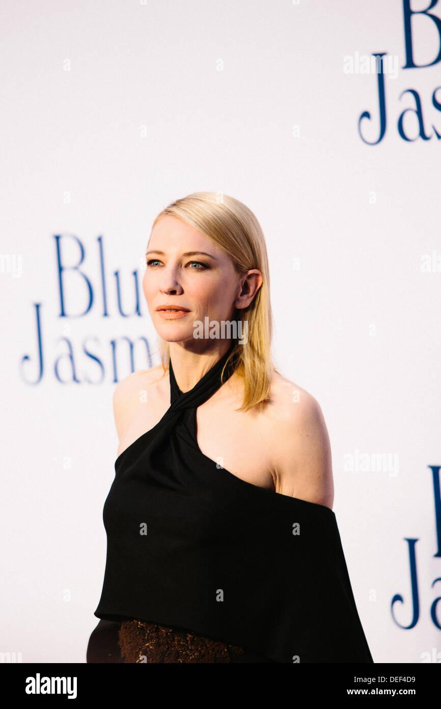 Cate Blanchett  'Blue Jasmine' - UK Film Premiere - Red Carpet Arrivals - Stock Image