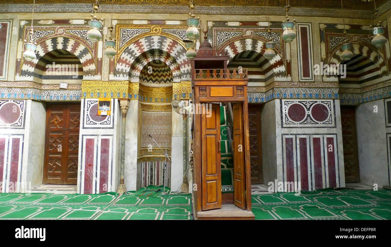 Gamal Al Din mosque, Al Gamaliya, Islamic Quarter, Cairo, Egypt - Stock Image