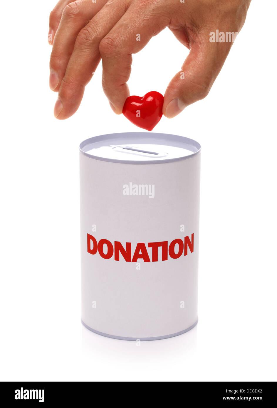 Donation boxStock Photo