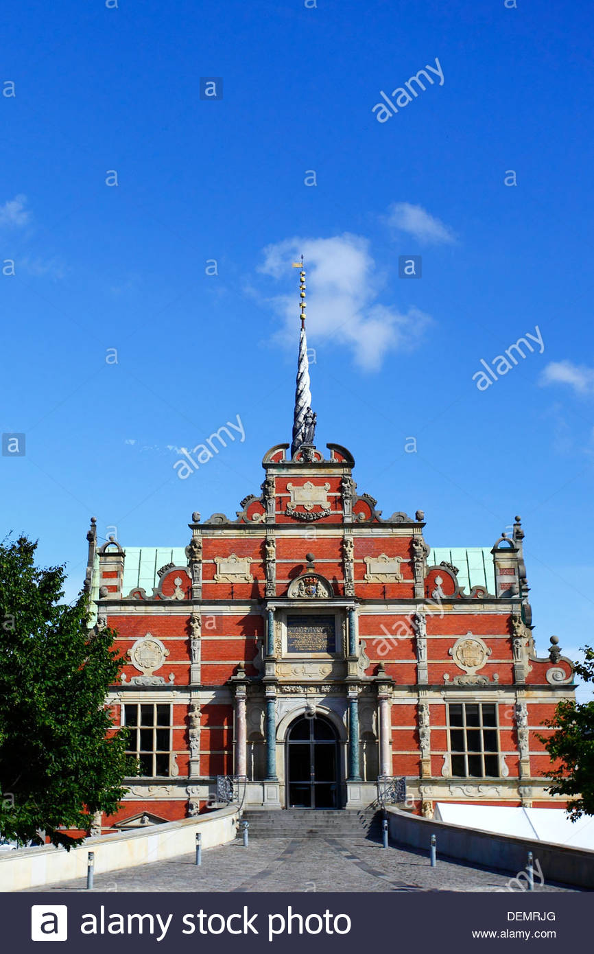 Børsen (English: The Stock Exchange) is a building on Slotsholmen in central Copenhagen, Denmark. - Stock Image