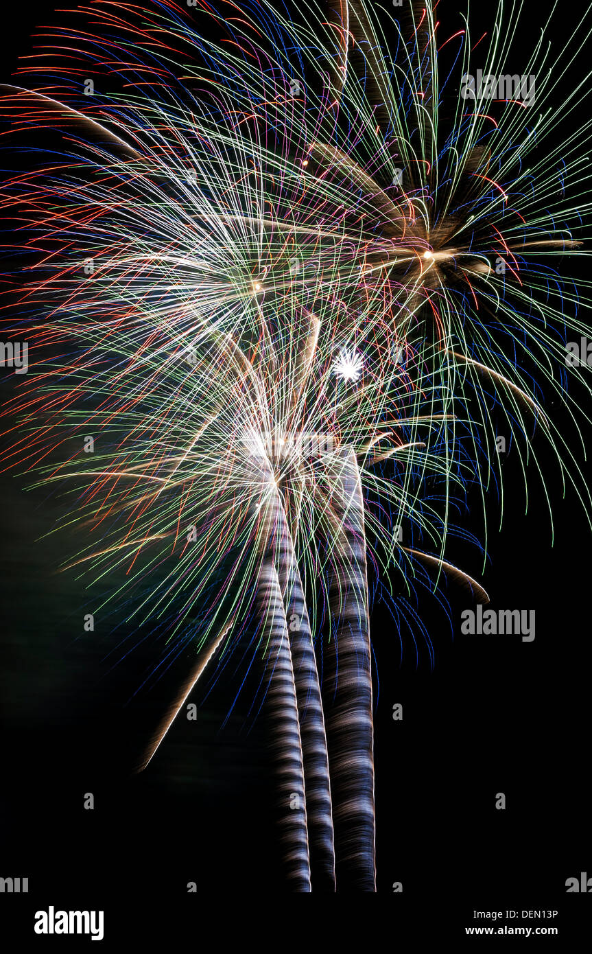 fireworks; blackpool; international; competition,lancashire,england,uk,pyrotechnics,explosion, - Stock Image