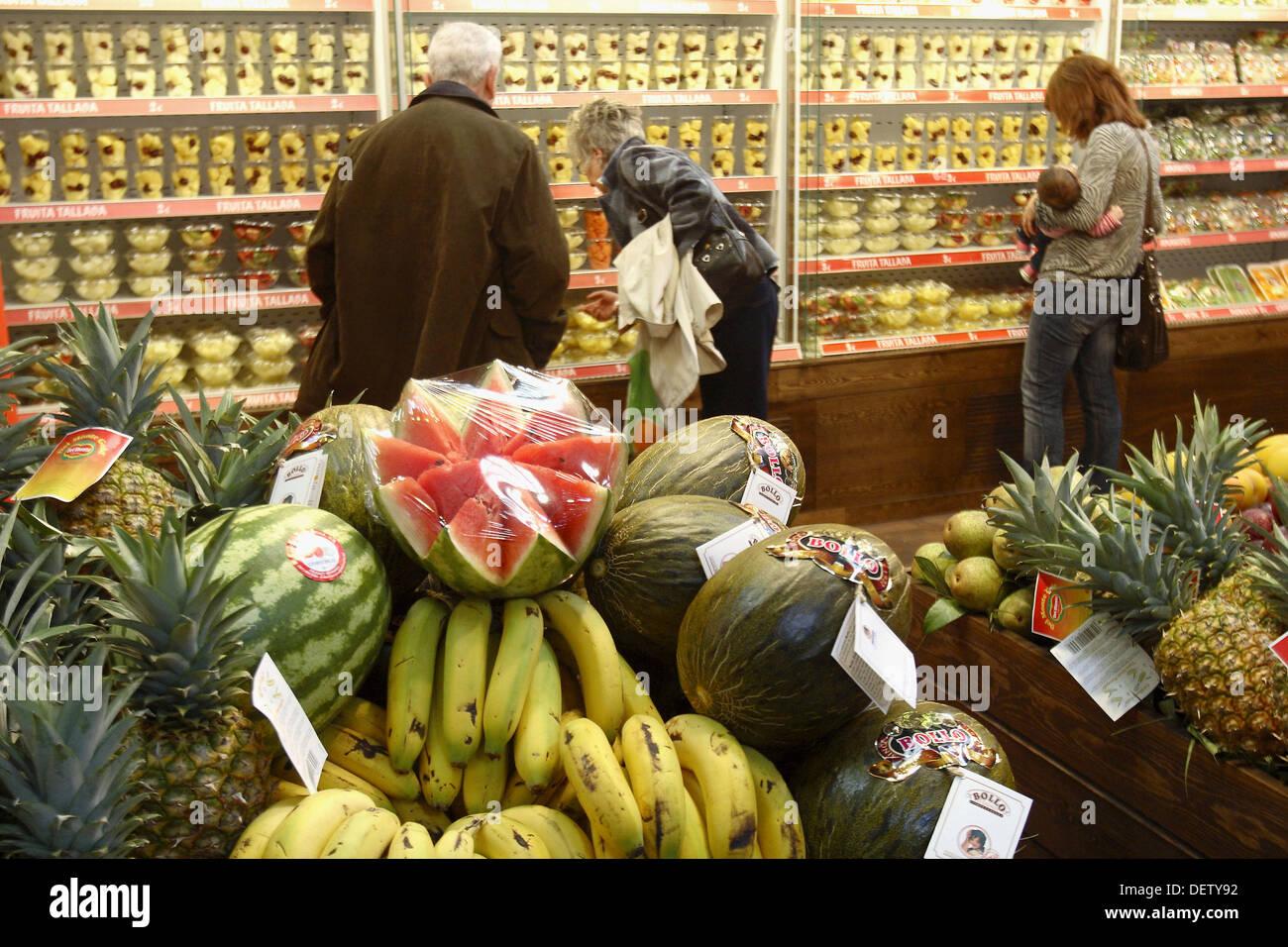 Fruits, Barcelona Degusta consumer food show, Barcelona, Catalonia, Spain - Stock Image