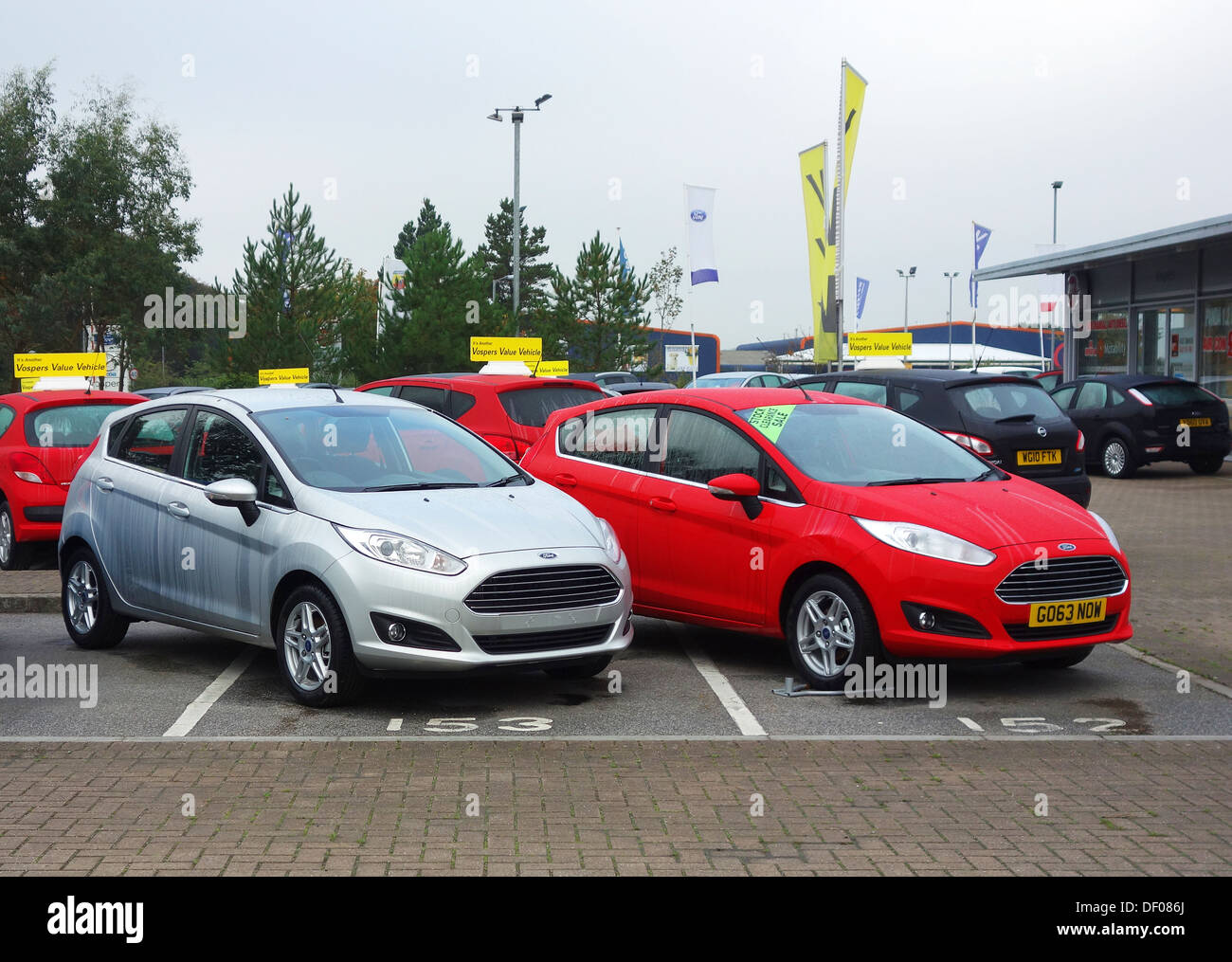 New cars for sale at a Ford Dealership in Cornwall, UK Stock Photo ...