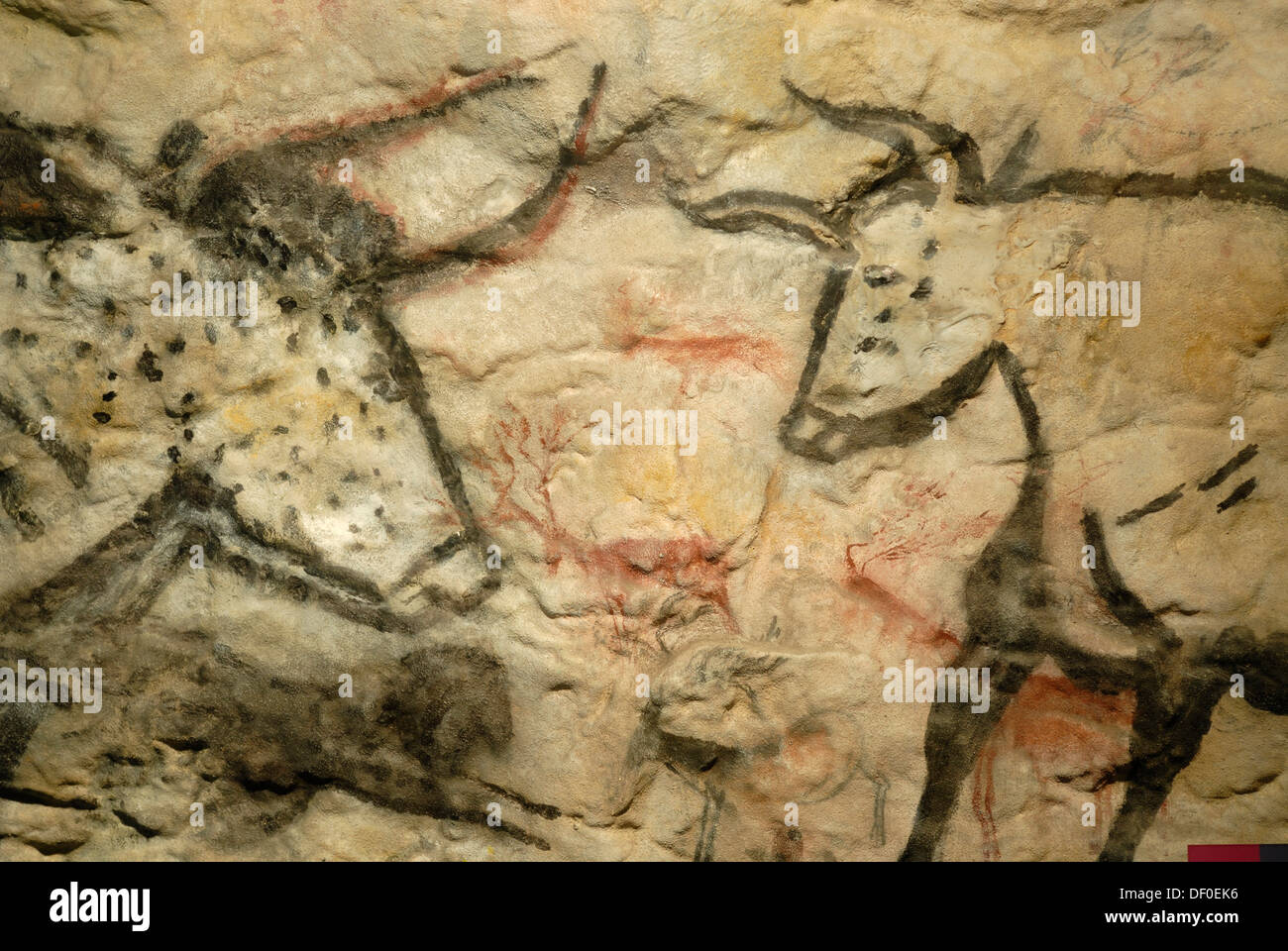 Cave painting from the stone age, Cheddar Man Museum of Prehistory ...