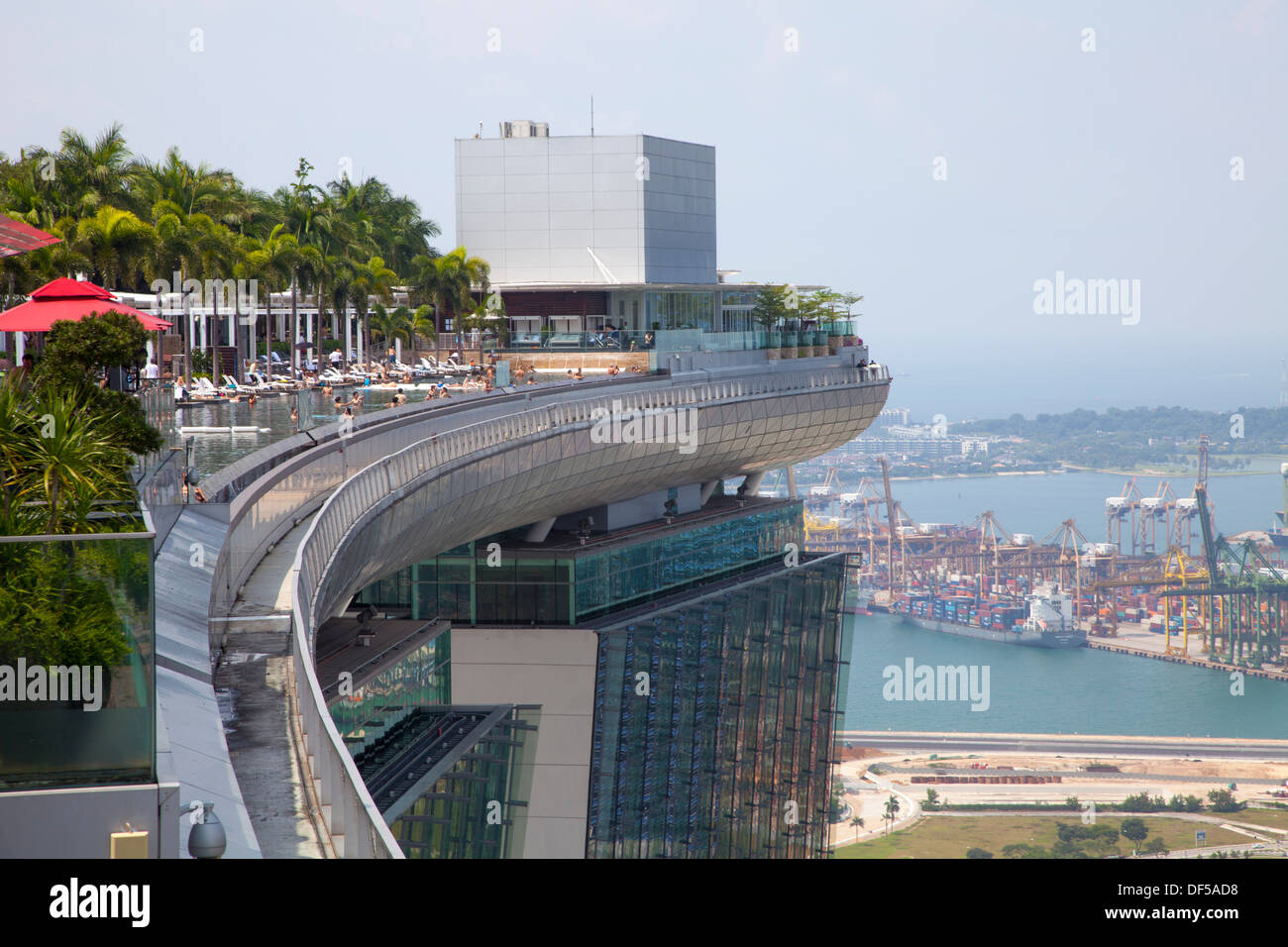 Marina Bay Sands Hotel Roof Pool Singapore Asia Destination View