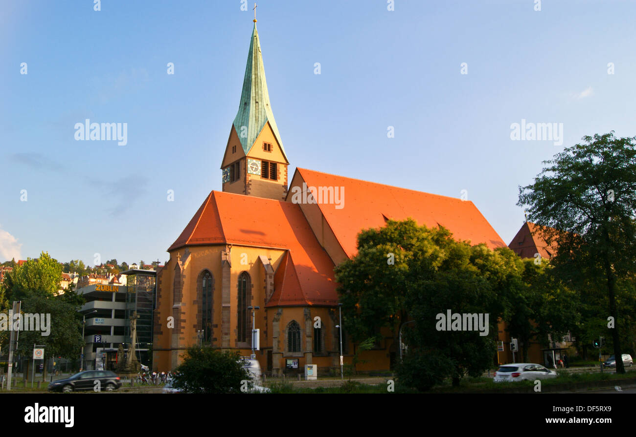 Leonhardskirche, St. Leonard's church, Stuttgart, Baden-Wuerttemberg, GermanyStock Photo