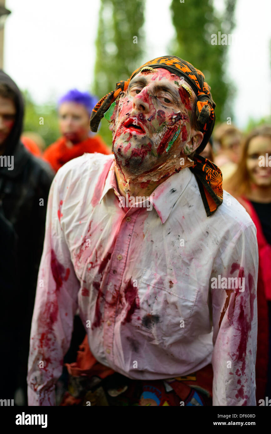2013 Stockholm Zombie Walk Stock Photo