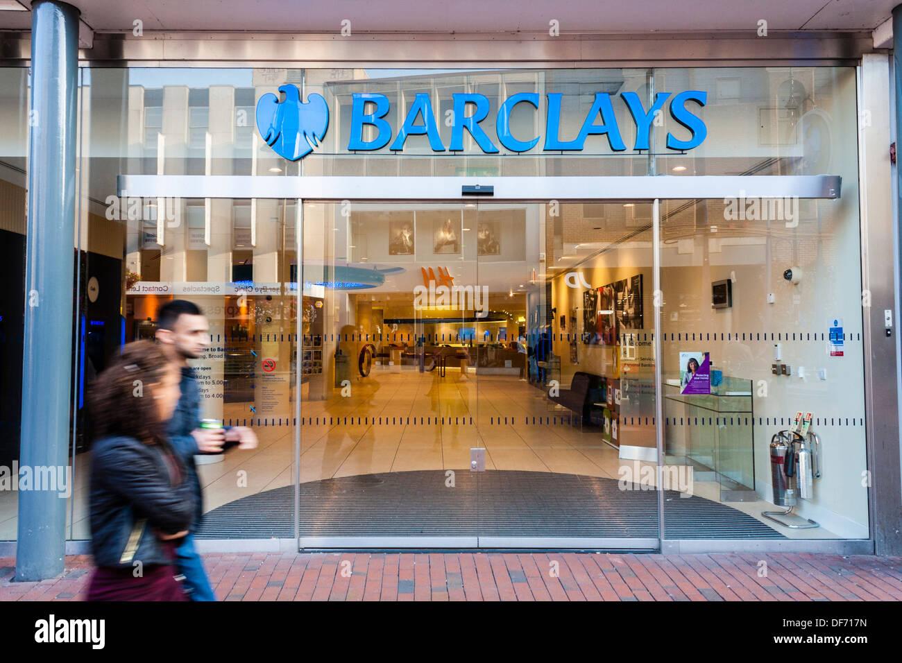UK high street bank, Barclay's, Reading, Berkshire, England, GB, UK Stock Photo