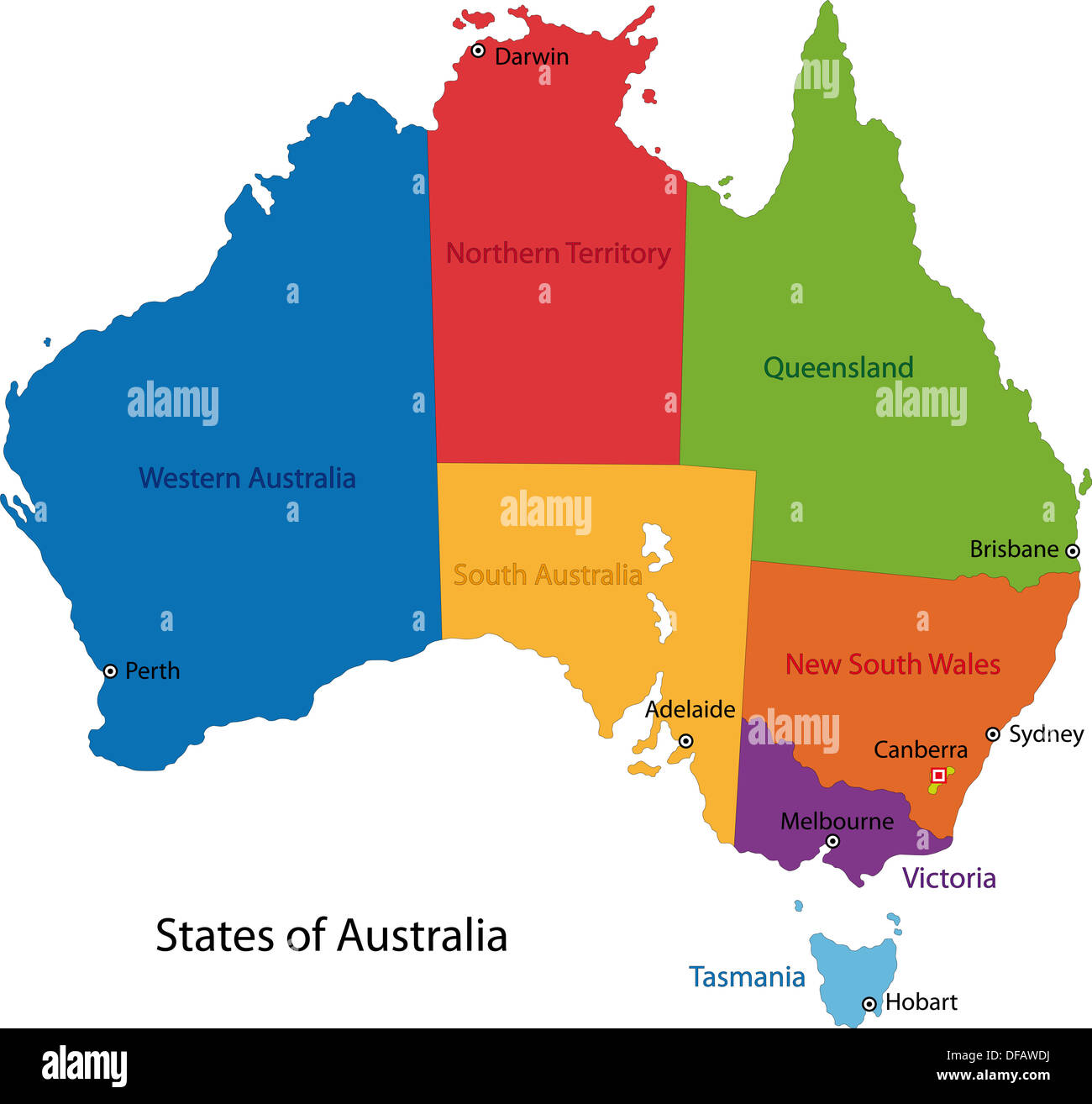 Australia map Stock Photo 61090446 Alamy