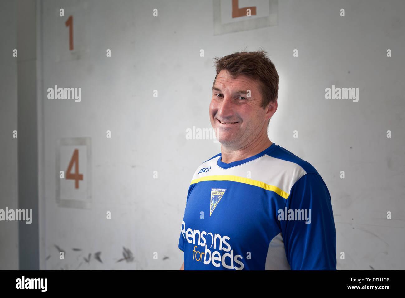 Tony Smith, Coach, Warrington Wolves Rugby League - Stock Image