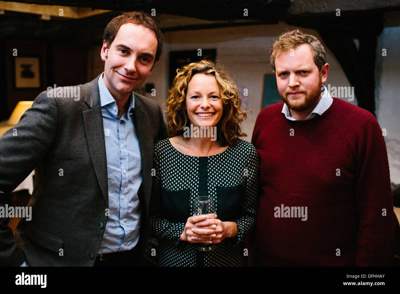 Dougie Anderson & Kate Humble & Miles Jupp - Stock Image