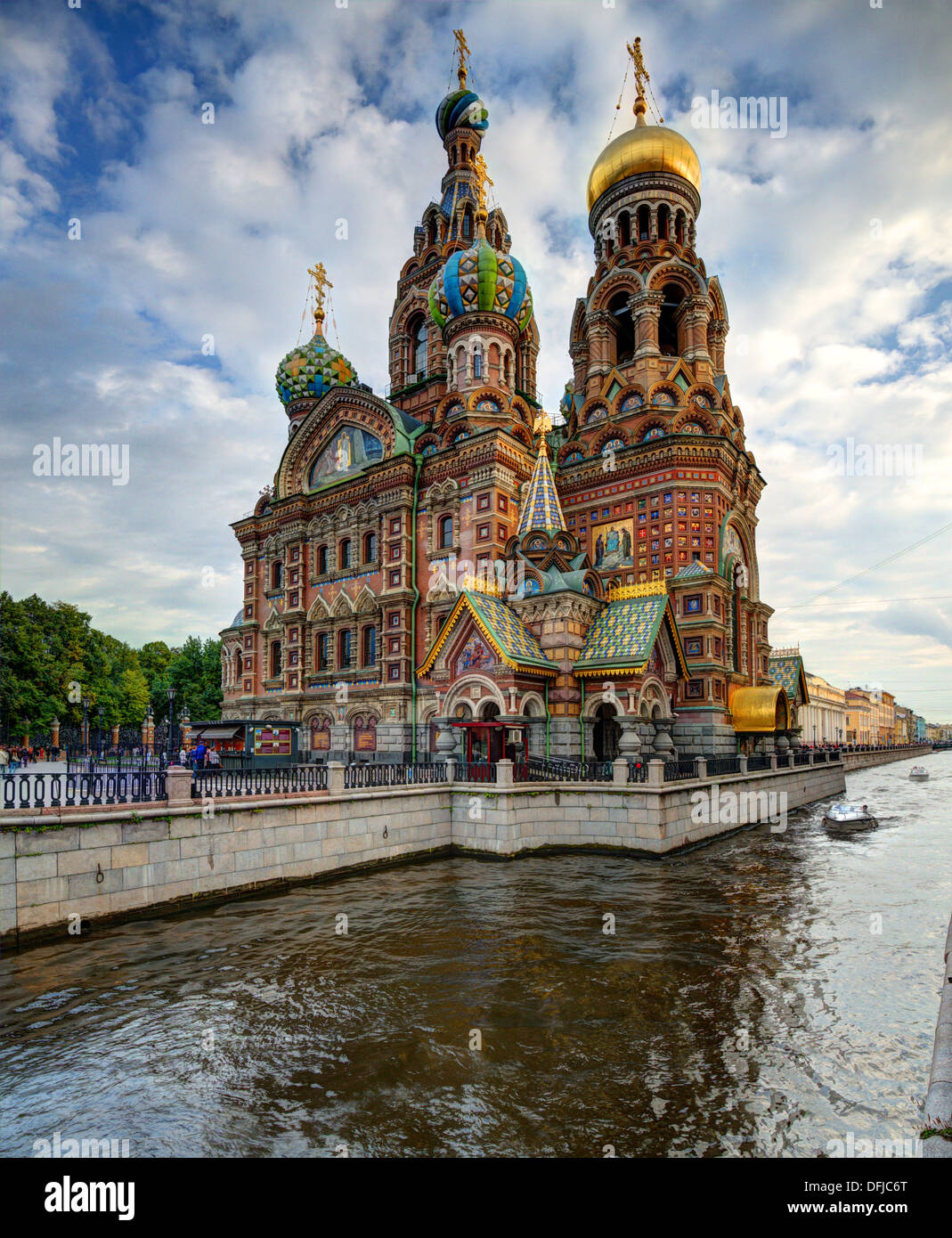 Church of the Savior on Blood in St. Petersburg, Russia. - Stock Image